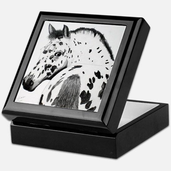 Leopard Appaloosa Colt pencil drawing Keepsake Box