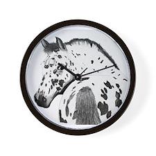 Leopard Appaloosa Colt pencil drawing Wall Clock
