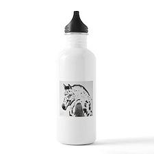 Leopard Appaloosa Colt pencil drawing Water Bottle