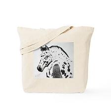 Leopard Appaloosa Colt pencil drawing Tote Bag