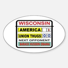 ANTI-UNION Sticker (Oval)