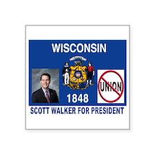 "WALKER FOR PRESIDENT Square Sticker 3"" x 3&qu"
