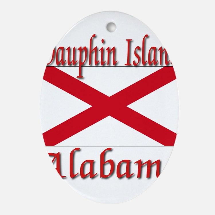 Dauphin Island Alabama Ornament (Oval)