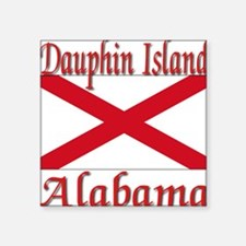 "Dauphin Island Alabama Square Sticker 3"" x 3"""