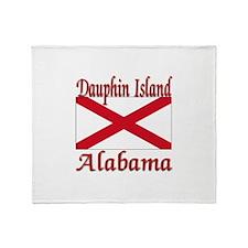 Dauphin Island Alabama Throw Blanket