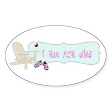 I Run For Wine Decal