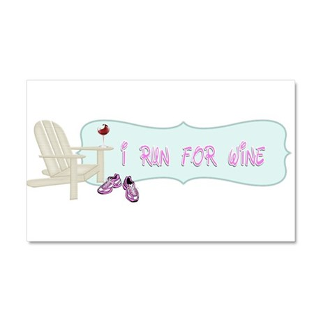 I Run For Wine Car Magnet 20 x 12