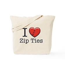 I love Zip Ties Tote Bag