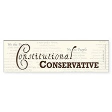 Constitutional Conservative Car Sticker