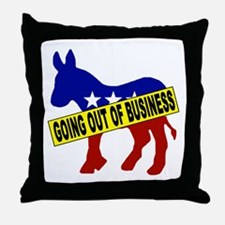 Going Out Business Democrats Throw Pillow