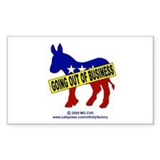 Going Out Business Democrats Decal