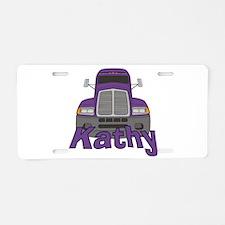 Trucker Kathy Aluminum License Plate