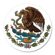 Mexican Coat of Arms Round Car Magnet