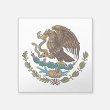 "Mexican Coat of Arms Square Sticker 3"" x 3"""