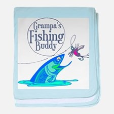 Grampas Fishing Buddy baby blanket