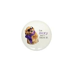 Im Sexy Golden Retriever Mini Button (100 pack)