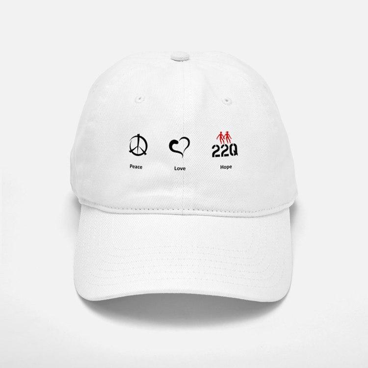 Peace. Love. Hope. Baseball Baseball Cap