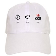 Peace. Love. Hope. Baseball Cap