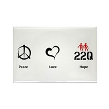 Peace. Love. Hope. Rectangle Magnet
