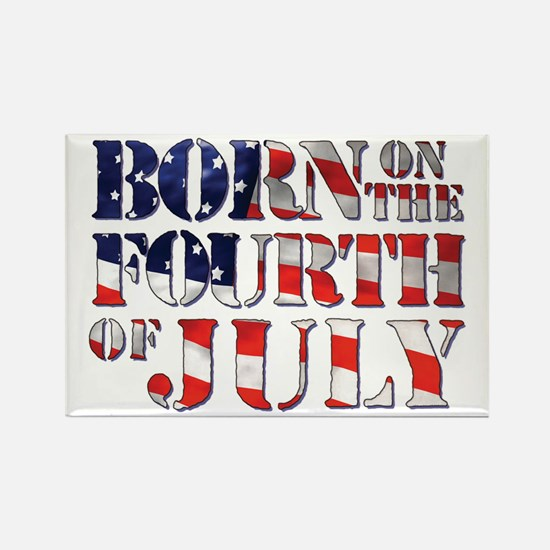 Cute 4th of july birthday Rectangle Magnet