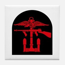 Combined Operations B-R Tombstone Tile Coaster
