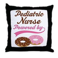Pediatric Nurse Gift Donuts Throw Pillow