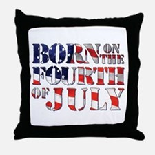 Cute 4th of july birthday Throw Pillow