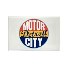 Detroit Vintage Label Rectangle Magnet