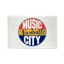 Nashville Vintage Label Rectangle Magnet