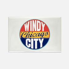Chicago Vintage Label Rectangle Magnet