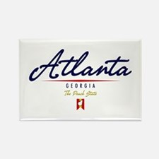 Atlanta Script Rectangle Magnet