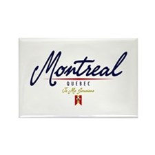 Montreal Script Rectangle Magnet