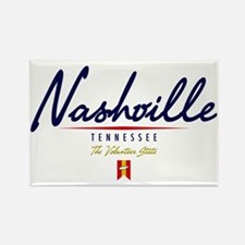 Nashville Script Rectangle Magnet