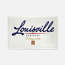 Louisville Script Rectangle Magnet
