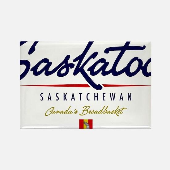 Saskatoon Script Rectangle Magnet