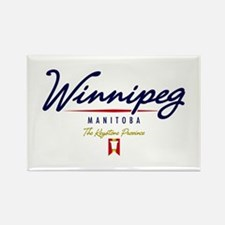 Winnipeg Script Rectangle Magnet