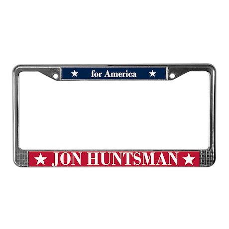Jon Huntsman for America License Plate Frame
