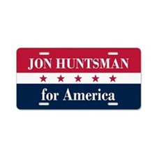 Jon Huntsman for America Aluminum License Plate