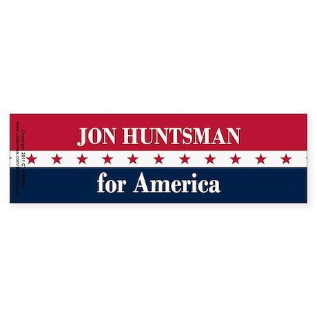Jon Huntsman for America Sticker (Bumper)