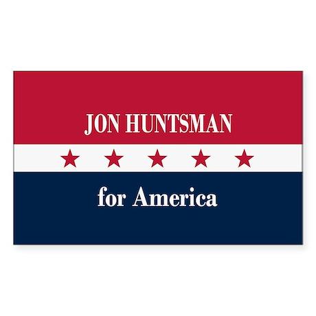 Jon Huntsman for America Sticker (Rectangle)