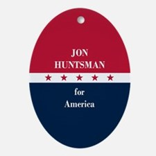 Jon Huntsman for America Ornament (Oval)