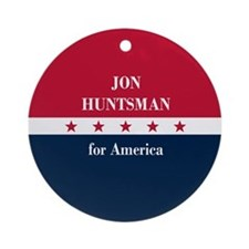 Jon Huntsman for America Ornament (Round)