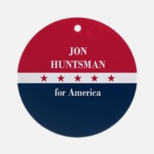 Jon Huntsman for America Ornament (Round)