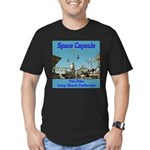 Space Capsule Men's Fitted T-Shirt (dark)