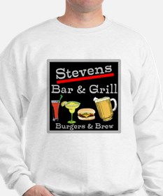 Personalized Bar and Grill Sweatshirt