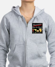 Personalized Bar and Grill Zip Hoodie