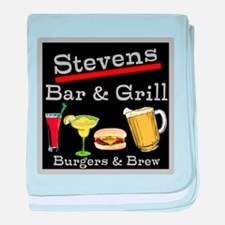 Personalized Bar and Grill baby blanket