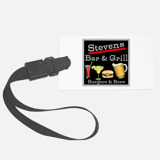 Personalized Bar and Grill Luggage Tag
