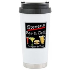 Personalized Bar and Grill Travel Mug
