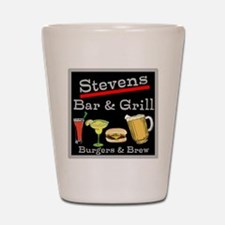 Personalized Bar and Grill Shot Glass